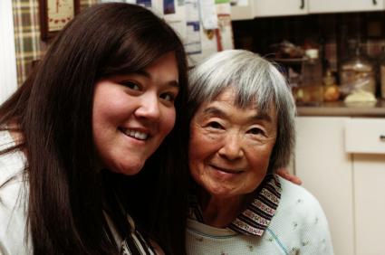 Grand daughter with grandma