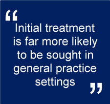 Initial treatment sought in GP settings