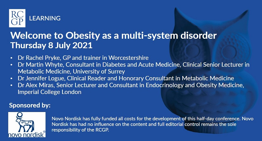 Image showing title of webinar: obesity as a multi system disorder