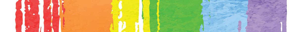 Image of stylised rainbow swash